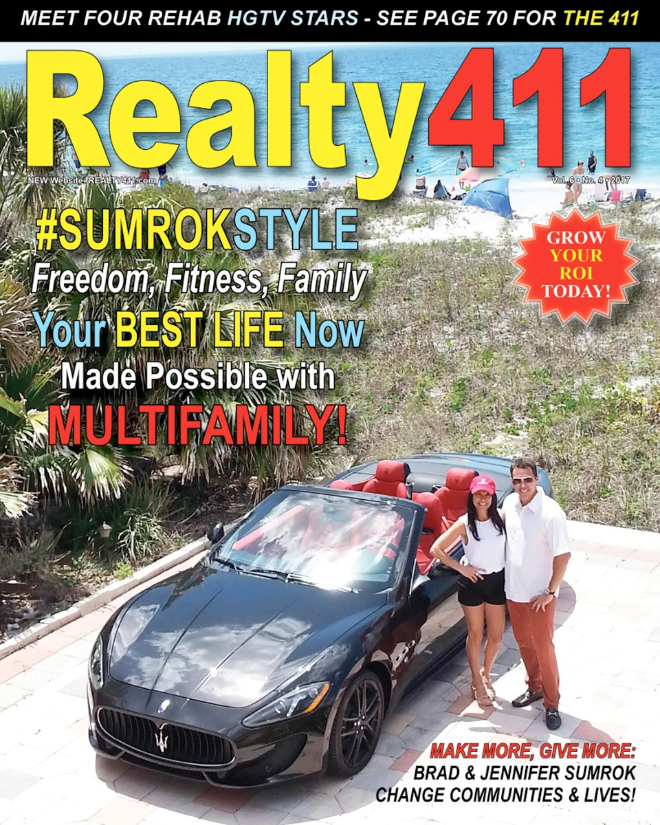 Brad Sumrok and wife on Realty 411 Magazine