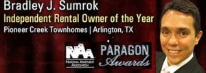 Brad Sumrok Independent Rental Owner of the Year - Paragon Awards
